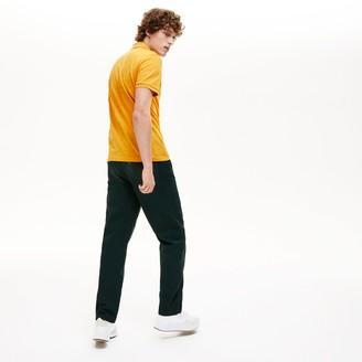 Lacoste Men's Slim Fit Patterned Cotton Mini Pique Polo