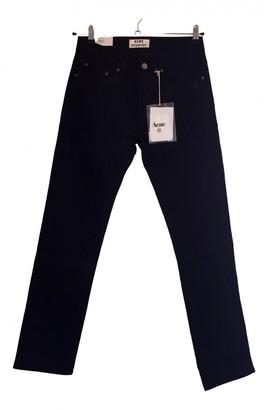 Acne Studios Black Denim - Jeans Trousers