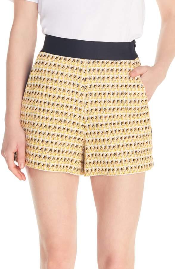 Maje Isidore Side Stripe Tweed Shorts