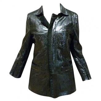 Roberto Cavalli Black Python Coat for Women