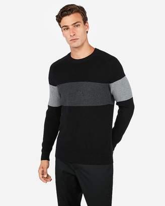 Express Crew Neck Color Block Stripe Sweater