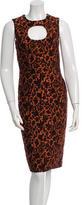 Carolina Herrera Floral Jacquard Dress