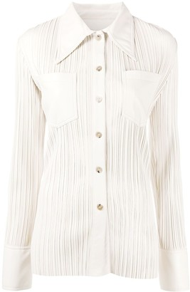 Nanushka Blaine pleated shirt