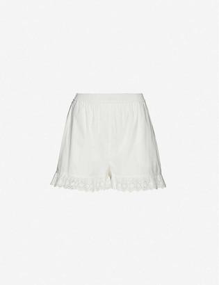 Designers Remix Sandra high-rise organic cotton shorts