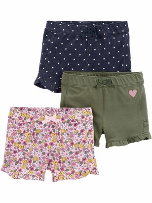 Simple Joys by Carter's 3-pack Knit Shorts Pink.Gray