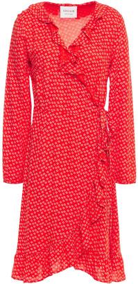 Cecilie Copenhagen Jolene Ruffled Printed Crepe Wrap Dress