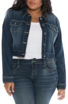 Plus Size Women's Slink Jeans Embroidered Denim Jacket