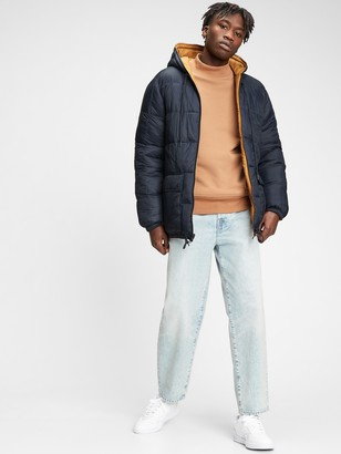 Gap Lightweight Reversible Grid Quilted Puffer Jacket