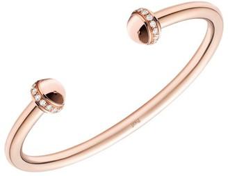 Piaget Possession 18K Rose Gold & Diamond Open Bangle