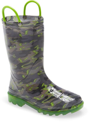 Western Chief Surf Camo Light-Up Waterproof Rain Boot