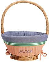 Pottery Barn Kids Chambray Colorblock Easter Basket Liner Orange/Navy