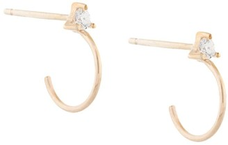 Sarah & Sebastian 10kt yellow gold diamond Element hoops