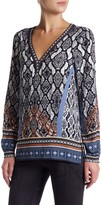 Hale Bob Printed Long Sleeve Tunic