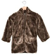 Lili Gaufrette Girls' Faux Fur Reversible Coat