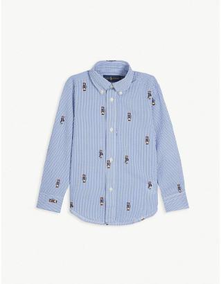 Ralph Lauren Polo Bear-print cotton shirt 2-7 years