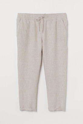 H&M H&M+ Pull-on linen trousers