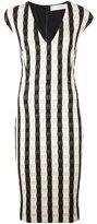 Victoria Beckham fitted gingham dress - women - Polyester/Cotton/Polyamide/Spandex/Elastane - 8