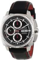 "Marvin Men's M118.15.41.64 ""Malton"" Stainless Steel Automatic Watch with Black Leather Band"