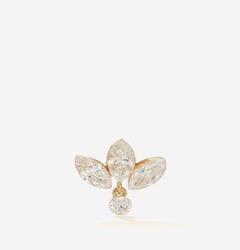 Maria Tash Lotus Diamond & 18kt Gold Single Earring - Yellow Gold