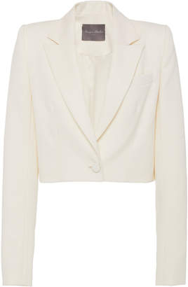 Monique Lhuillier Cropped Wool Blazer