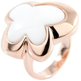 Bronzallure White Agate Butterfly Ring