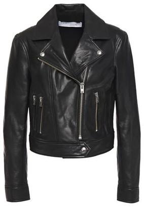 IRO Bapey Cropped Pebbled-leather Biker Jacket