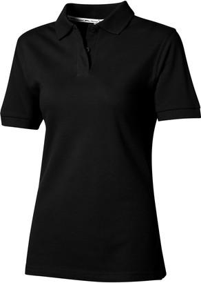 Slazenger Womens/Ladies Forehand Short Sleeve Polo (M) (Solid Black)