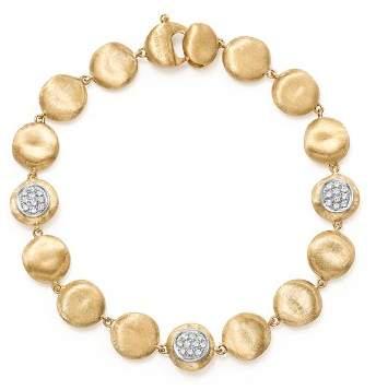Marco Bicego 18K Yellow Gold Diamond Pavé Jaipur Link Small Beaded Bracelet
