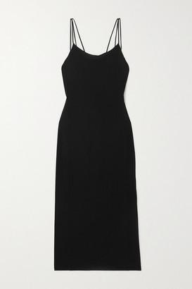 Helmut Lang Draped Jersey Midi Dress