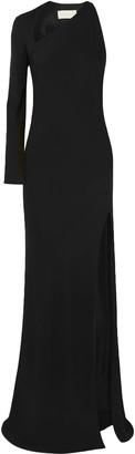 Mason by Michelle Mason Split-front Cutout Stretch-crepe Gown