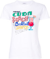 P.A.R.O.S.H. sequinned Cuba embroidery T-shirt