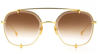 Dita Eyewear Round Frame Aviator Sunglasses