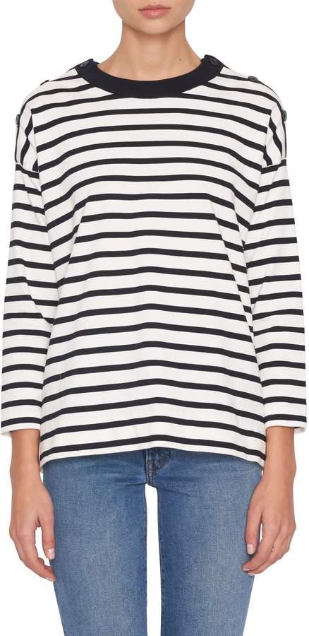 Milos Striped Crewneck Sweater