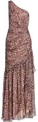 Ramy Brook Camila Leopard Silk Maxi Gown