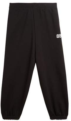 Balenciaga Kids - Unisex Cotton-blend Track Pants - Womens - Black
