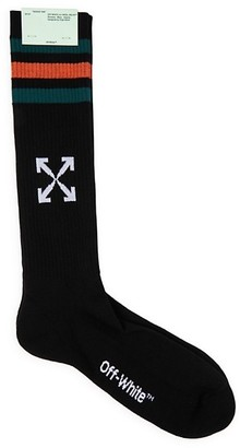 Off-White Extra-Long Logo Sport Socks
