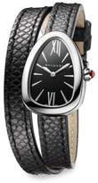 Bvlgari Serpenti Stainless Steel, Diamond & Black Karung Strap Watch