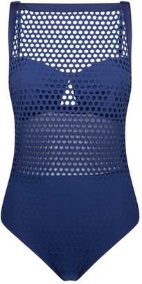 Shan Square-Neck Mesh Swimsuit