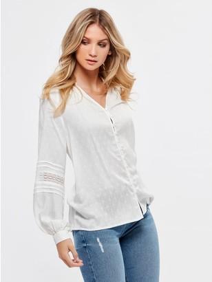 M&Co Dobby spot blouse