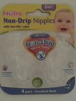 Nuby Non-Drip Silicone Nipples (4pack) Standard Neck