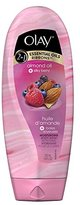 Olay 2-in-1 Essential Oils Ribbons Almond Oil + Silky Berry Moisturizing Body Wash 18 Oz (Pack of 2)
