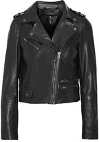 Muu Baa Muubaa Collumba Cropped Leather Biker Jacket