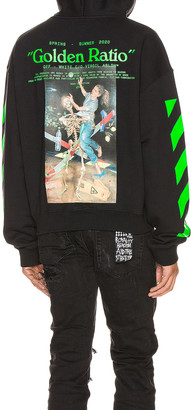 Off-White Pascal Painting Over Hoodie in Black & Multi | FWRD