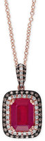 Effy Rosa by Ruby (1-5/8 ct. t.w.) and Diamond (1/3 ct. t.w.) Pendant Necklace in 14k Rose Gold