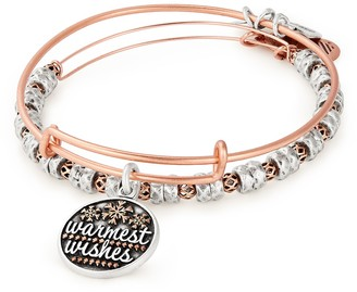 Alex and Ani Warmest Wishes Charm Expandable Bangle Bracelet Set