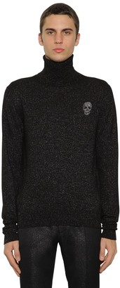 Alexander McQueen Wool & Lurex Knit Turtleneck Sweater