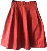 Loro Piana Orange Cotton Skirt for Women