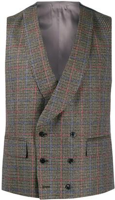 Gabriele Pasini Satin-Back Tweed Waistcoat