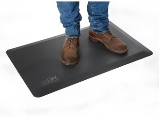 Seville Classics AIRLIFT Black Anti-Fatigue Comfort Mat for Stand Up Desks Kitchens, Non-Slip Waterproof Polyurethane