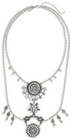 Topshop Women's Crystal Statement Collar Necklace